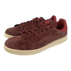 Adidas Stan Smith Maroon Suede Sneakers Shoes Men's Sz 11.5 2014