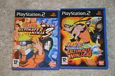 lot 2 JEUX PS2 : NARUTO Ultimate Ninja 3 et 4 - playstation 2 complet en VF
