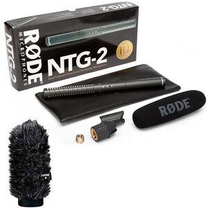 Rode NTG2 Condenser Supercardioid Shotgun Recording Microphone + WS6 Windshield