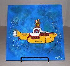 Beatles Yellow Submarine Cover Pop Art Flagstone Painting By Elissa Dawn Shakal