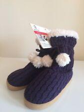 Women's Isotoner Socks Foot Warmer Slipper Shoe Booties Size S / M Purple 5 - 6