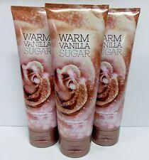 3 Warm Vanilla Sugar Bath & Body Works Body Cream 8 Oz ea NEW!