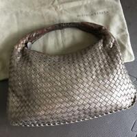 Bottega Veneta 115653 Intrecciato Hobo Shoulder Hand Bag Brown Leather Used