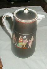 OLD BATES - WALKER & CO ENGLISH CHOCOLATE, POT w HAND PAINTED CLASSICAL SCENE!