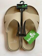 Size 6 Sanuk Women's Beachwalker Slide Sandal In Natural- EU 37, UK 4