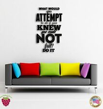Wall Sticker Quotes Words Inspire Message What Would You Attempt To Do  z1486