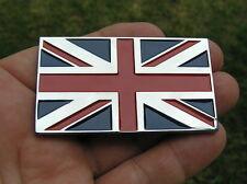 BRITISH FLAG CAR BIKE EMBLEM Chrome Metal *NEW* Fits BSA TRIUMPH etc
