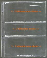 20 FEUILLES POUR CLASSEUR TELECARTES BECKMANN - AVEC OU SANS BLISTER / REF MOD02
