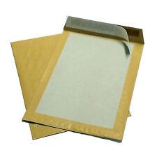 10 Enveloppes/pochettes B4 Kraft À dos carton 250x353mm
