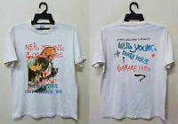 Rare 1986 Neil Young Crazy Horse vintage rock concert tour gildan t-shirt
