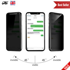 New Anti Spy Matte Privacy Tempered Glass Screen Protector For Apple iPhone X