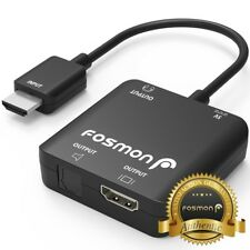 Fosmon 4K HDMI to HDMI + SPDIF Optical Toslink Stereo Audio Extractor Converter
