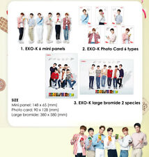 EXO K  Lotte EXO Pepero Photo Card 6 + Standing Photo 6 + Large bromide Poster 2
