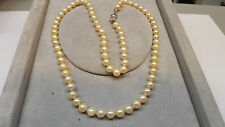 Collana di perle lunga collier 333 Orologio da polso uomo oro chiusura Akoya L
