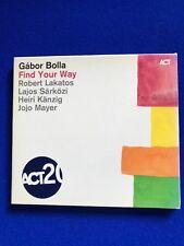 Neuf Gabor Bolla Trouvez Your Way CD Promo Copy Jazz Act 2012