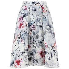 Giles Deacon High Waist Winter Rose Thistle Pattern Voluminous Skirt IT38 UK6
