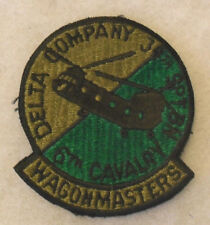 """""""DELTA COMPANY 34TH SPT BN 6TH CAVALRY WAGONMASTERS"""" HELO UNIT IRON ON BACK CE"""