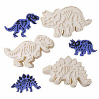 3D Plastic Dinosaur Cookie Cutter Mold DIY Biscuit Sugarcraft Baking Mould Tool