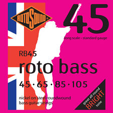ROTOSOUND RB45 ROTO BASS NICKEL BASS STRINGS, STANDARD GAUGE 4's - 45-105