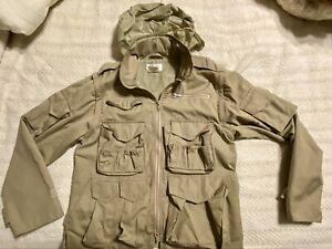 Vintage Orvis Fishing Jacket/Vest Small Men's Zip Off Sleeves Hood
