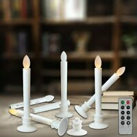 LED Window Candle Flickering Light Flameless w/ Timer Remote Home Xmas Décor 6PC