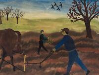 KALLENBERGER, Landarbeiter auf dem Feld, 20. Jh., Aquarell