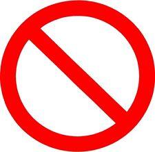 No symbol Vinyl Decal Sticker Free Shipping
