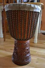 African djembe drum from Guinea West Aftica