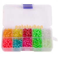 Lot 500-3000 Fishing Beads Saltwater Freshwater Stopper 3mm-7mm Ball with Box