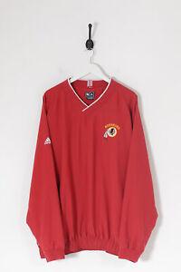 Vintage Adidas Washington Redskins NFL Pullover Jacke Rot (3XL)