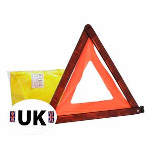 Warning Triangle High Viz Vest UK Sticker Euro Travel Car Kit Euro Driving