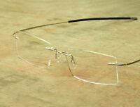 Designer Rimless Titanium glasses Custom Prescription Lens Progressive Glasses