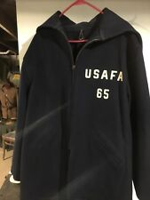 MILITARY USAFA US Air Force Academy Cadet Wool Jacket Parka Large Named Ace Nam