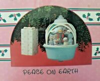 "Vintage Enesco Precious Moments Collection ChristmasOrnament ""Peace on Earth""NIB"