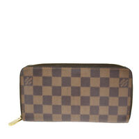 Auth LOUIS VUITTON Zippy Wallet Long Bifold Purse Damier Ebene N60015 83BS270