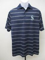 New Seattle Mariners Mens Size M Medium Blue Polo Shirt MSRP $45