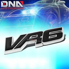 FOR VW VR6 GOLF/JETTA STICK ON 3D CHROME BLACK AUTO METAL EMBLEM TRIM BADGE LOGO