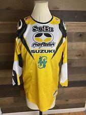 Vintage Travis Pastrana Sobe Motocross Jersey Youth Size Xl No Fear Suzuki