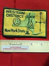 NEW YORK PATCH NY ~ Vtg. NCHA Campers Hikers Western District 5OA2 ex