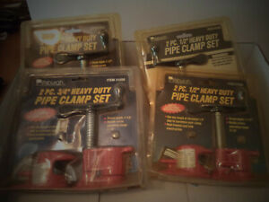"""3 QTY 1/2 in. Pipe Clamps,1QTY 3/4"""" PIPE CLAMP,PITTSBURGH"""