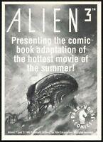Alien 3 Dark Horse Comics 1992 Promo Card (C753)