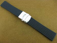 NEW 22mm Black Rubber Diver Strap Watch Band Navitimer 01 22 V Tag