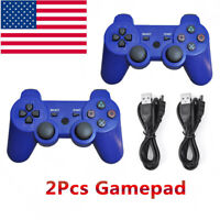 2Pcs PS3 Controller Playstation3 Wireless Bluetooth GamePad US SELLER