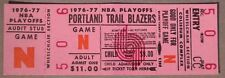 PORTLAND TRAILBLAZERS 1976-7  Championship original Playoff ticket nm+
