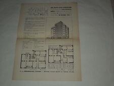 MILANO-VIA LOMELLINA-MANIFESTO PER VENDITA APPARTAMENTI IN COSTRUZIONE ANNO 1940