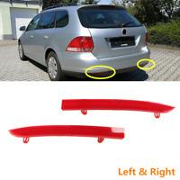 Fit For VW Jetta Wagon 09-14 Golf SportWagen Rear Bumper Red Reflector Cover L+R