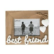 S Belle Farmhouse Rustic Wooden Best Friend Hearts Hanging Photo Frame Gift