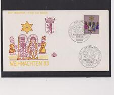 BERLIN-1983-FDC-Weihnachtsmarke-Schmuck-FDC-10.11.1983-LUXUS !