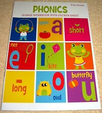 Phonics First Grade Workbook (2016) Homeschool Daycare 32 Pgs New Clever Factory