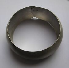 Sterling silver wide brushed cuff bangle 26.4g
